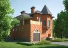 Загородный кирпичный дом